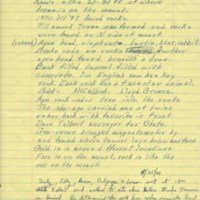 Handwriten page with notes as to where the treasure is, as told by Orville Keller