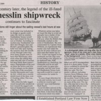 The Legend of the ill-fated Glenesslin Shipwreck`
