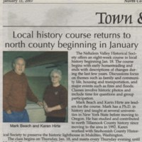 Local History course returns to north county beginning in January