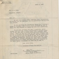 Correspondence between J. H. Lane and United States Dept. of Agriculture